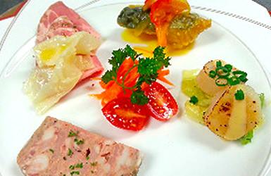 モンブーシェで提供する料理の一例